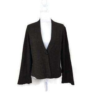 Eileen Fisher Womens Petite Large 100% Wool Green